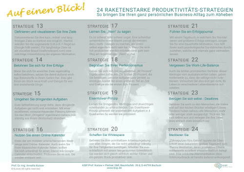 Produktivitäts-Strategien