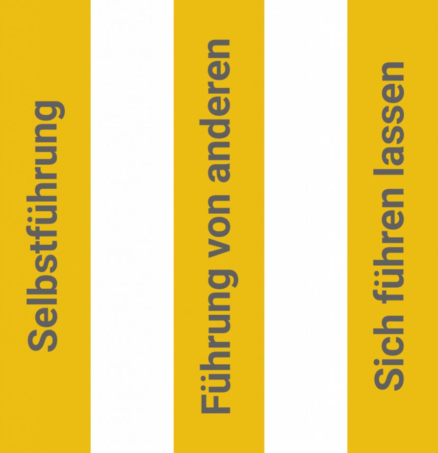 3 Säulen der Führung: Selbstführung-Führung von anderen-Sich führen lassen