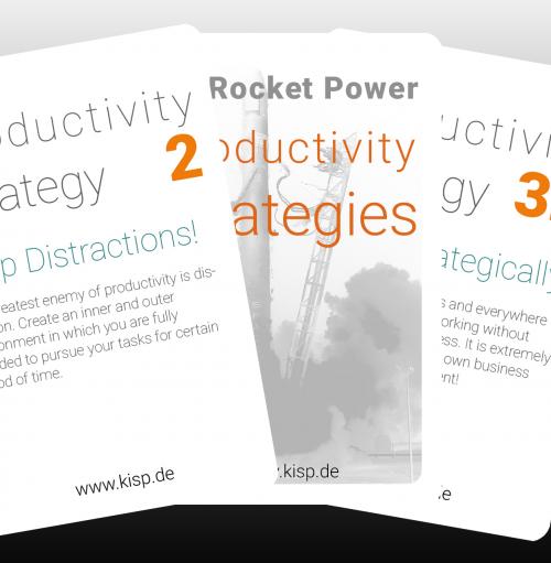 Kartenspiel Produktivitäts-Strategien