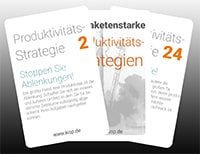 Kartenset 33 Produktivitäts-Strategien